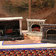 Three Old German Fireplace for Dollhouses