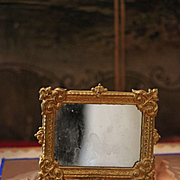 Antique German Dollhouse Ormolu  Frame with Mirror by Erhard and Söhne