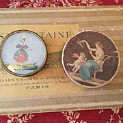 Two lovely early small round boxes