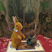 Two Cany Container Rabbits by Zinner