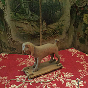 Early Wooden Pulltoy Dog