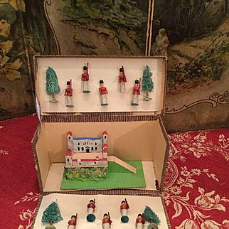 Original Erzgebirge Solder & Castle Set in Box