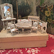 Lovely French Dollhouse Furniture Set