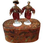 Two Early Wooden Dolls