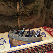 Wonderful Little Boat with Sailors