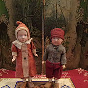 Two Lovely Candy Container Dolls