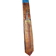 Vintage Mens Collectable 1991 Ralph Marlin Empire State Building Novelty Necktie Unused Excellent Condition