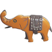 Bakelite & Metal Martha sleeper Elephant Pin Brooch