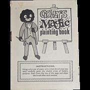 "RARE Small Coloring "" Golly's Magic Paint Book "" Gollywog J. Robertson England"