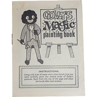 "RARE Small Coloring "" Golly's Magic Paint Book "" Gollywog J. Robertson England"