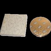 Beautiful Stratton Cupid Cherubs Vanity Compact Mint Original Box
