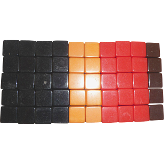 50 Large BAKELITE DICE CUBES 4 Different Colors New Old Stock Dice Blanks