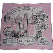 Fun Picture Hanky Handkerchief Chicago City of Towers