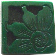 Vintage Plastic Bakelite or Casein Button Small Flower Carved and Layered
