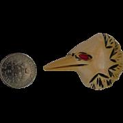 Unusual BAKELITE BUTTON XL Bird Eagle Patriotic