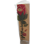 Figural Folded Red Rose Hanky Handkerchief MWT + Embroidered Rose Hanky Valentine