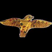 RaRe Bakelite Apple Juice Confetti Bird Pin Brooch