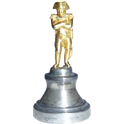 Vintage Napoleon Bonaparte Silver Bronze Wax Seal Stamp Figure Miniature Statue