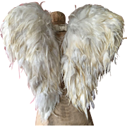 Pair of Vintage feather Belgian Processional Angel Wings