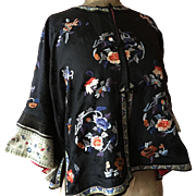 Stunning Silk Chinese Embroidered Jacket circa 1920's