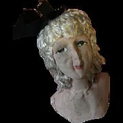 1920's Large boudoir Doll Head for rework