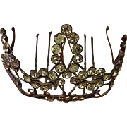 Edwardian Paste Tiara in original condition