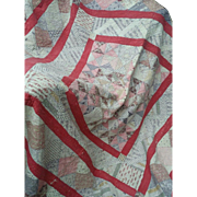 Stunning 19th century English cotton Patchwork Quilt