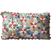 Patchwork cushion, 19th century