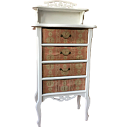 Pink faded floral French Boudoir drawers, circa 1900