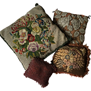 Collection of Victorian Beaded and Embroidered cushions