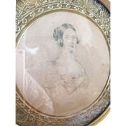 Early 19th century picture in original frame
