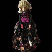 Original 1920's cloth Boudoir Doll (poupee de salon)