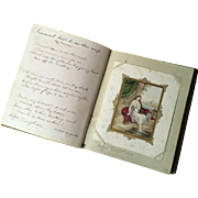 Book of Handwritten Poetry and Pictures dated 1853