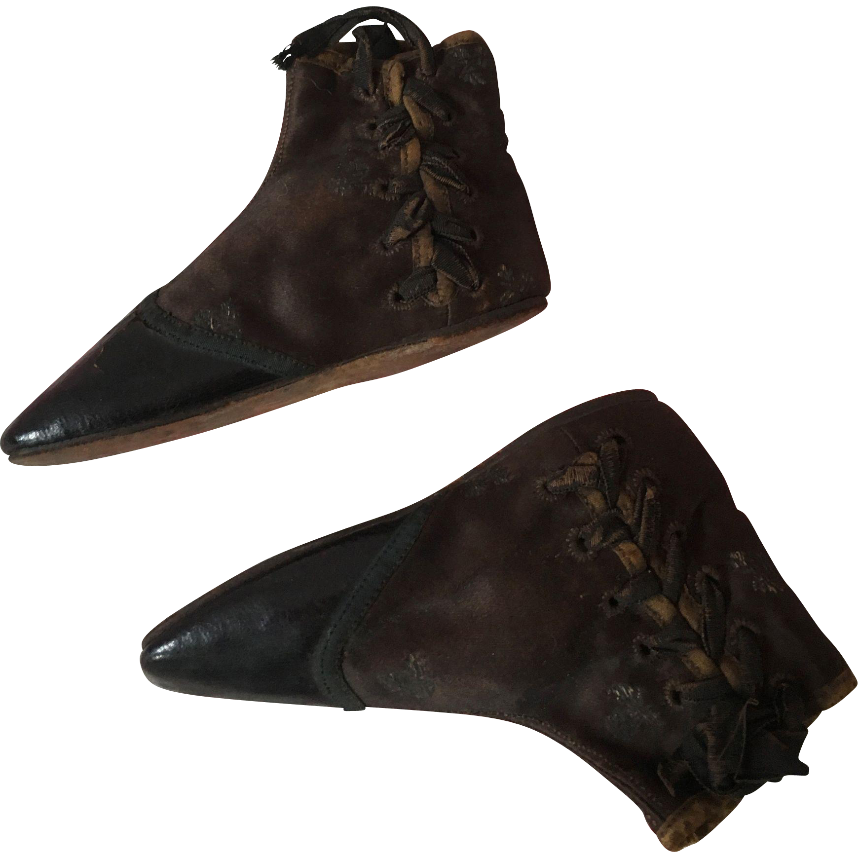 Laced Boots (Straights) for a Child - Early 19th Century
