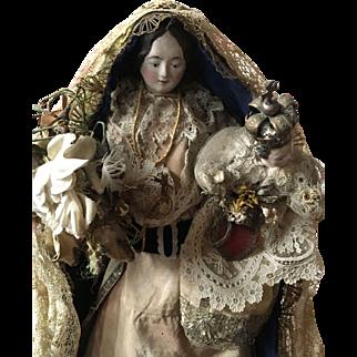 Circa 1900 Madonna with Child doll