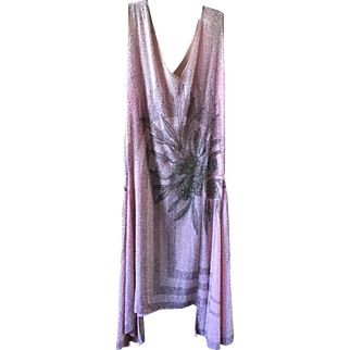 Original heavily Beaded 1920's Flapper Dress