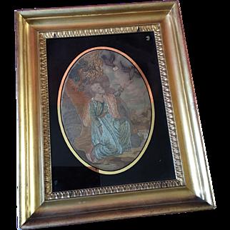 Georgian Silk & Embroidered Religious picture circa 1820/30's