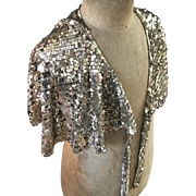 1930's Gold Sequinned Evening Capelet