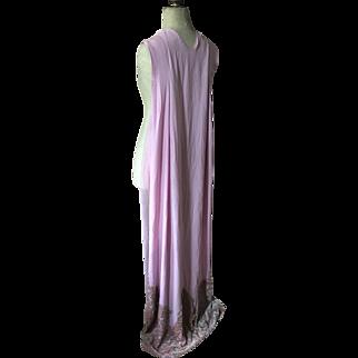Circa 1920's Silk velvet, rhinestones and Chiffon Court presentation Train