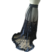 19th century Lace and Cut work Bustle Skirt