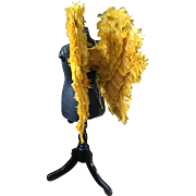 Feather Angel Wings - Pair of Saffron Yellow Child's Processional Wings