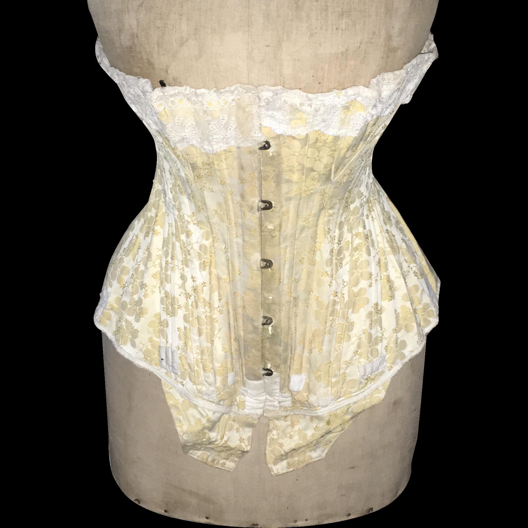 Ladies Brocade Corset - Antique circa 1900