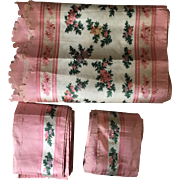 Silk Lengths / Panels - Circa 19th Century, 3 in Total, Lots of Fabric