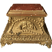 Religious Plinth with Cherubs - Wood and Gesso Gilt - 19th Century