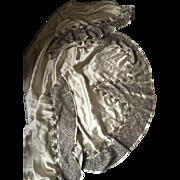 Beaded Satin Skirt Hem for Rework - early 20th century