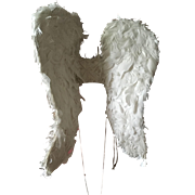 Early 20th century Vintage Processional Feather Angel Wings, circa 1920's
