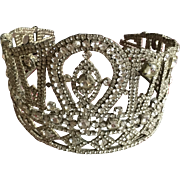 Circa 1950's Large Rhinestone Crown