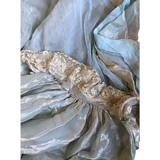 Circa 1900's Antique Chiffon, Lamé and Paste Court Train with Provenance (Laura Barnett)