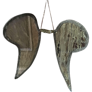 Pair of circa 1920's Gold Lamé Angel Wings