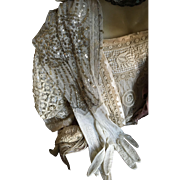 Edwardian elbow length Sequinned and Beaded Evening Gloves circa 1910